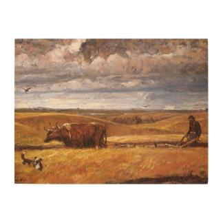 Büffel-Knochen darunter gepflogen von Harvey Holzdruck