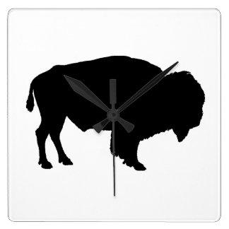 Büffel Quadratische Wanduhr