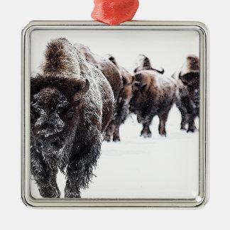 Büffel Silbernes Ornament