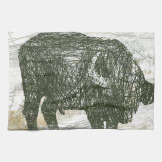 Büffel Stier Küchentuch