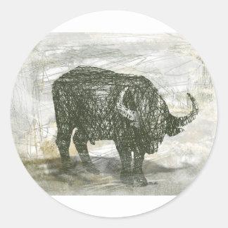 Büffel Stier Runder Aufkleber
