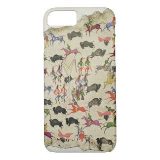Büffeljagd (Pigment auf Elchhaut) iPhone 8/7 Hülle