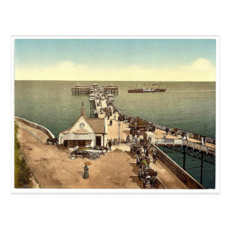 Bügeln Sie Pier, Llandudno, Wales seltenes Postkarte