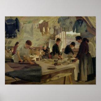 Bügelnde Werkstatt in Trouville, 1888 Poster