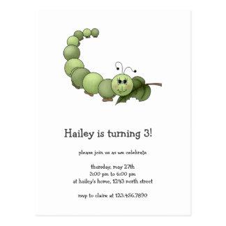 Buggin Sie auch · Grüner Inchworm Postkarte
