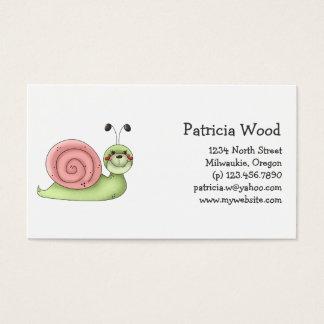 Buggin Sie · Grüne u. rosa Schnecke Visitenkarte