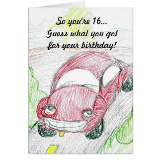 Buggy-16. Geburtstags-Karte Karte