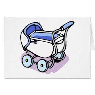 Buggy des blauen Babys Karte