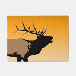 Bugling Elche am Sonnenuntergang - ursprüngliche Türmatte