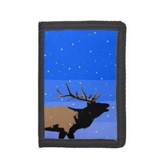 Bugling Elche im Winter - ursprüngliche Tier-Kunst