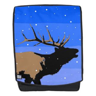 Bugling Elche im Winter - ursprüngliche Tier-Kunst Rucksack