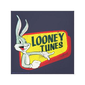 BUGS BUNNY ™ LOONEY TUNES™ Retro Flecken Leinwanddruck
