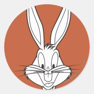 Bugs Bunny stellen das Lächeln gegenüber Runde Aufkleber