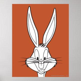 Bugs Bunny stellen das Lächeln gegenüber Plakatdrucke