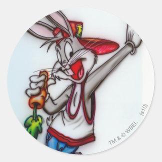 Bugs- BunnyHipster 2 Runder Sticker