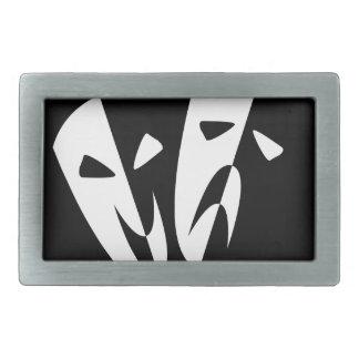 Bühne-Masken Rechteckige Gürtelschnalle
