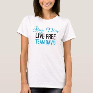 Bühne-Tauchen - leben freies Shirt im Blau