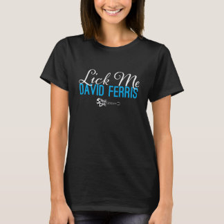 Bühne-Tauchen - lecken Sie mich blau auf Schwarzem T-Shirt