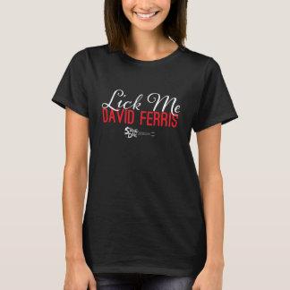 Bühne-Tauchen - lecken Sie mich rot auf Schwarzem T-Shirt