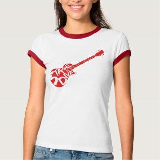 Bühne-Tauchen - rote Gitarre T-Shirt
