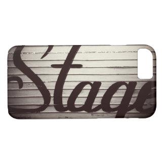"""""""Bühne-"""" Vintages Zeichen iPhone 8/7 Hülle"""