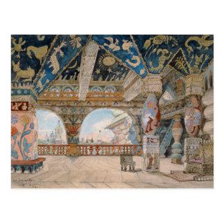 Bühneentwurf für Oper Nikolai Rimsky-Korsakovs Postkarte