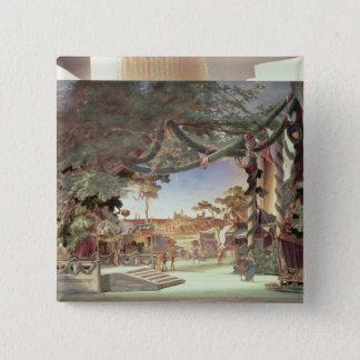 Bühnemodell für die Oper 'die Meistersinger Quadratischer Button 5,1 Cm