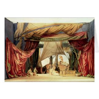 Bühnemodell für die Oper 'Tristan und Isolde Karte