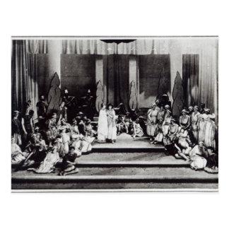 Bühnepremiere in England Semele Postkarte