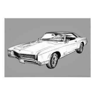 Buick- Rivieraillustration 1967 Fotodruck