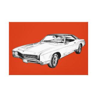 Buick- Rivieraillustration 1967 Leinwanddruck