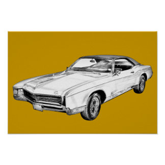 Buick- Rivieraillustration 1967 Poster