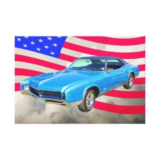 Buick- Rivieramuskel-Auto 1967 und amerikanische Leinwanddruck