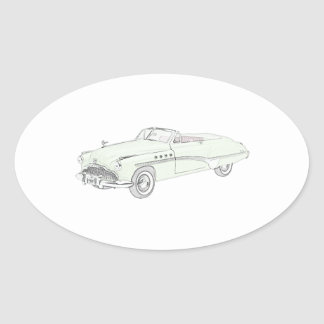 Buick Roadmaster 1949 Ovaler Aufkleber