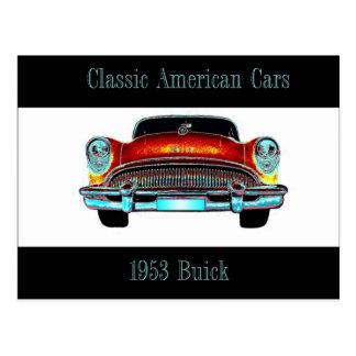 Buickpostkarte 1953 postkarte