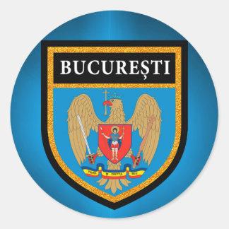 Bukarest-Flagge Runder Aufkleber