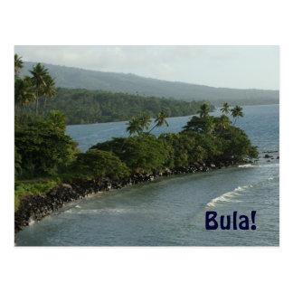 Bula von Fidschi-Postkarte