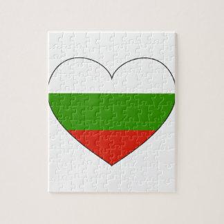 Bulgarien-Flagge einfach Puzzle