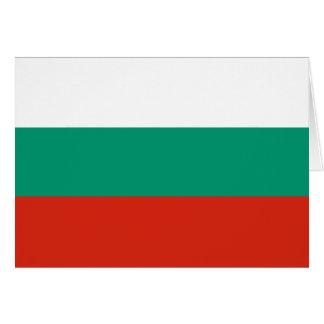 Bulgarien-Flagge Mitteilungskarte