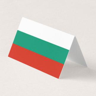 Bulgarien-Flagge Visitenkarten