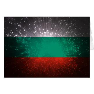 Bulgarien-Flaggen-Feuerwerk Mitteilungskarte