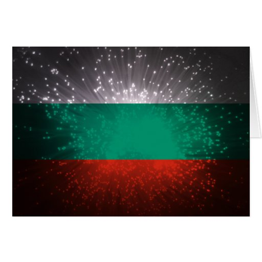 Bulgarien-Flaggen-Feuerwerk Karte