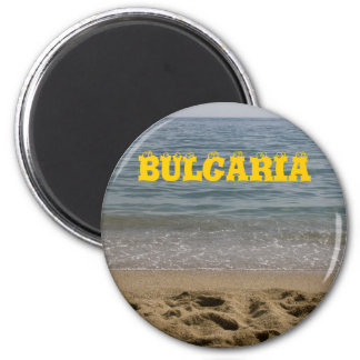 Bulgarien-Seestrand Runder Magnet 5,7 Cm