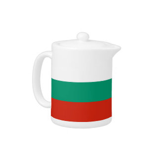 Bulgarische Flaggen-Teekanne