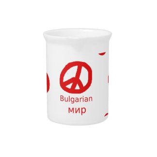 Bulgarischer Friedenssymbol-Sprachentwurf Krug