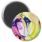 Bulldogge #1 runder magnet 5,1 cm