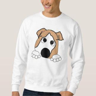 Bulldogge, die Kitz und Weiß späht Sweatshirt