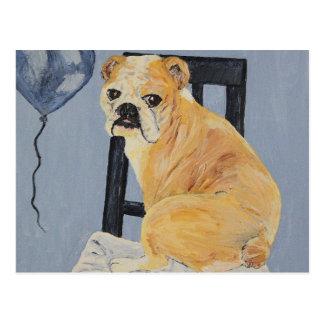 Bulldogge Madeline Postkarte