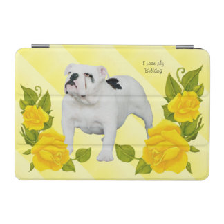 Bulldogge mit gelber Rose iPad Mini Hülle