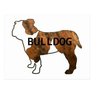 Bulldogge roter brindle und weißer Namenssilo Postkarten